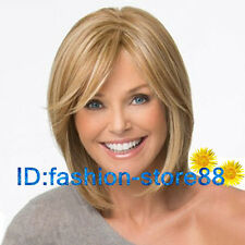 New sexy ladies short Brown Blonde Mixed Natural Hair wigs / Free Wig Hairnet