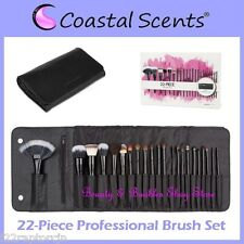 NEW Coastal Scents 22-Piece PROFESSIONAL BRUSH SET w/Case FREE PRIORITY SHIPPING