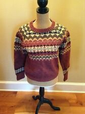 Womens Vintage Mauve Wool Small Woolrich Nordic Sweater