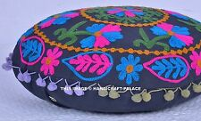 "16"" Indian Home Decorative Traditional Pillow Cushion Cover Suzani Embroidered"