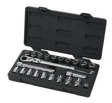 "23 pc. 3/8"" Dr. GearWrench¨ SAE/Metric XL Pass-Thru¨ Locking Flex Ratchet Set"