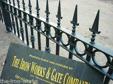 "#BUCKINGHAM WROUGHT IRON METAL 18"" x 6ft FENCING RAILING PANELS MADE TO ORDER#"