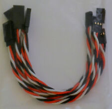 (5) Futaba Servo Extension Leads with 15CM Heavy Duty Twisted 20awg Wire