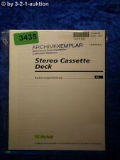 Sony Bedienungsanleitung TC PX100 Cassette Deck (#3435)