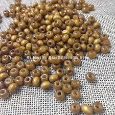 600pcs Round Rondelle Wood Spacer Beads charms Necklace & bracelet making 6x4mm