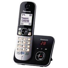 Panasonic KX-TG6821GB DECT Schnurlostelefon mit AB, Freisprechfunktion, schwarz