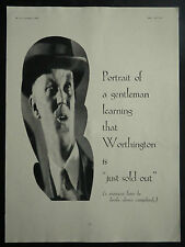 Just Sold Out Comical Worthington Beer 1927 Ad Advertisement