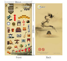 1 sheet Chinese Style Building Food planner diary scrapbook decor stickers
