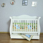 Brand NEW White New Zealand Pine 3-in-1 Baby Sleigh Cot Bed with Drawers