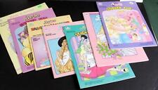 Lot 6 Unused Vintage Barbie Sticker Color Paint Booklets  Bride Groom Paper Doll