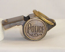 SOLID BRASS WORKING POLICE WHISTLE