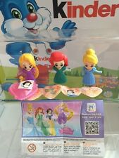 KINDER sorpresa Disney Princess LIMITED EDITION 2016 Set Completo India RARA