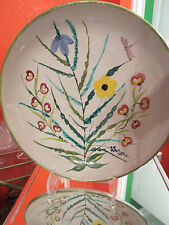 Vintage Made In Italy Hand Painted Large Serving Bowl or Wall plate