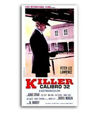 Affiche 32x64cm CALIBRE 32 (KILLER CALIBRO… 1967 Peter Lee Lawrence, Agnès Spaak