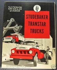 1958 Studebaker Transtar Heavy Duty Truck Brochure Excellent Original 58