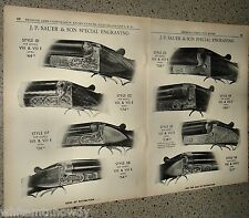 1958 J.P. SAUER 8 Engravings 2-page AD for Models VIII & VIII E