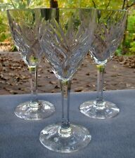 THREE St. Louis Crystal Saint Louis Chantilly Burgundy Large Wine Goblets France