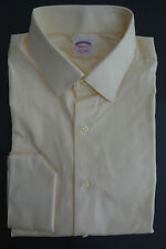 NWT Brooks Brothers Yellow Pinpoint Fabric Point Collar Shirt 16-30 Extra Slim
