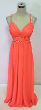 SEQUIN HEARTS Coral Evening Prom Formal Gown 11 - $110 NWT