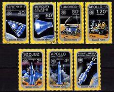 Hungary - 1975 Apollo-Sojuz / Space - Mi. 3046-52 VFU
