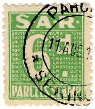 (I.B) South Africa Railways : Parcel Stamp 6d