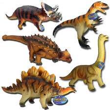 LARGE SOFT RUBBER 36cm DINOSAUR PLAY FIGURES TOYS CHILDREN STUFFED ACTION FIGURE