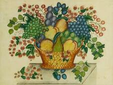 AMERICAN SCHOOL, 19TH CENTURY | Green and Red Grapes with Peach, Pear and Str...