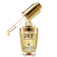 Pure 24K Gold Essence Oil Moisturize Anti Wrinkle Whitening Hyaluronic Liquid GH