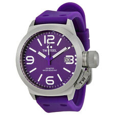 TW Steel Canteen Purple Dial Purple Silicone Mens Watch TW515