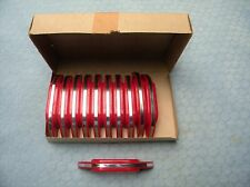 Art Deco Red Plastic Pulls Handle Kitchen Drawer Vintage NOS