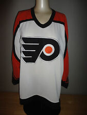 PHILADELPHIA FLYERS White CCM Heat Pressed Team Jersey - Adult Size Med. Style 1