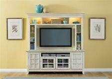 New Generation 50-Inch TV Entertainment Center in Vintage White Finish by Libert