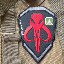 STAR WARS BOBA  HUNTER EMBROIDERED TACTICAL AIRSOFT ARMY Hook&Loop VELCRO PATCH
