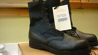 NEW Black Belleville Co. HOT WEATHER LEATHER Combat Boots SIZE 15.5  W -15 1/2 W