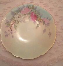 Limoges France Hand Painted Plate Floral Roses Signed Gripp 7 3/8""