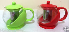 NEW COLOR Glass TEA POT Teapot w. Stainless steel Strainer filter 1200ml