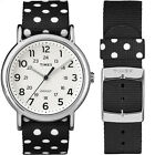Timex Weekender | Reversible Polka Dots Black/White Strap Casual Watch TW2P86600