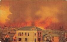 SAN FRANCISCO CALIFORNIA EARTHQUAKE FIRE FRONT OVER 4 MILES POSTCARD 1906