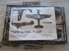 tiger shark  p40f  airplane owners model kit toy antique gas station ad  p 40 f