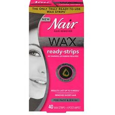 Nair Hair Remover Wax Ready Strips 40 ea (Pack of 2)