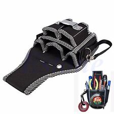 9in1 Electrician Waist Pocket Belt Tool Pouch Bag Utility Screwdriver Kit Holder