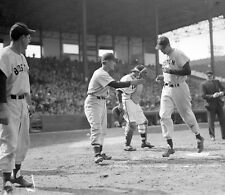 HALL OF FAME GREAT TED WILLIAMS HOMERS PESKY AND DOM  WAIT RED SOX 8X10  photo