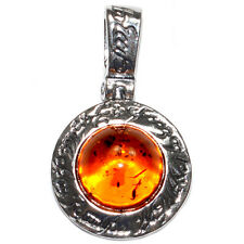3.1g Authentic Baltic Amber 925 Sterling Silver Pendant Jewelry A1670