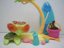LITTLEST PET SHOP #2149 GREEN PINK SPARKLE SEA TURTLE SURF EASTER ACCESSORIES