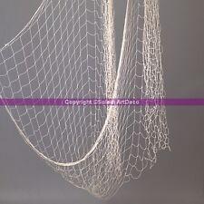 Filet de pêche poisson décoratif en coton, 4 m x 1 m , Largeur des mailles 5 cm