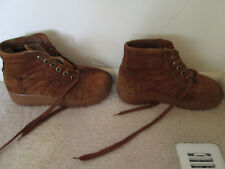 Vintage Trax Tracer Boots Waffle Stompers Size 9 from the 70s Lined Brown