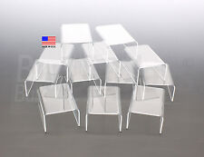 "Clear Acrylic Display Risers 4"" Wide Lot of 12 Made in the USA"