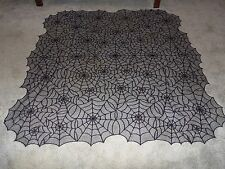 Halloween Black Lace Spider Web Tablecloth 59 x 60