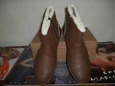 DOCTOR KELLER  BROWN SHEEP SKIN TRIM ANKLE BOOT UK SIZE 8 BRAND NEW