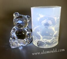 CLEAR SILICONE MOLD, (MD100) LARGE BEAR MOLD. HOME DECOR, SOUVENIR, PAPERWEIGHT